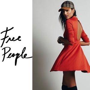 Free People Flirt & Flare Rust Skater Dress